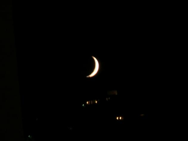 La luna en cuarto creciente, EL PIÑERO (Zamora)
