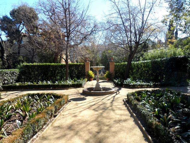 jardines del parque de la tamarita barcelona