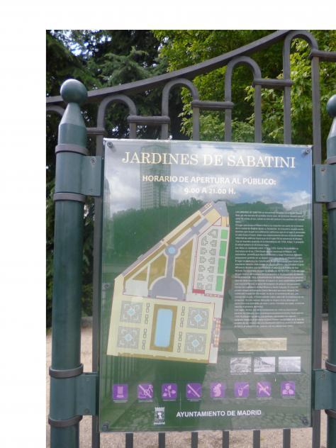Plano De Los Jardines Sabatini Madrid