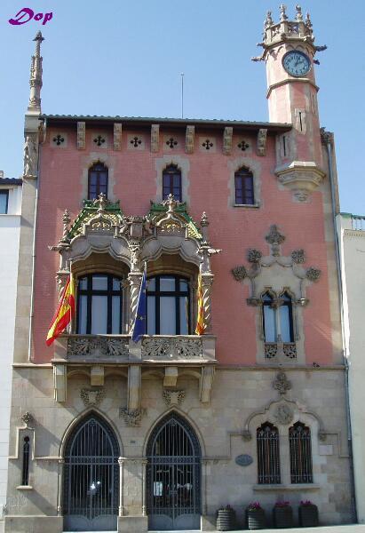 Precioso Edificio Del Ayuntamiento Granollers Barcelona