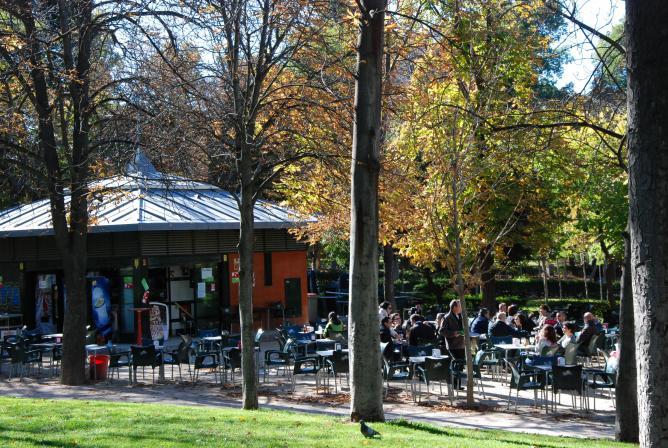 Parque Del Retiro Terraza Madrid