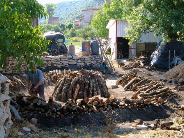 Preparando Para Hacer Carbon Vegetal Viloria Navarra