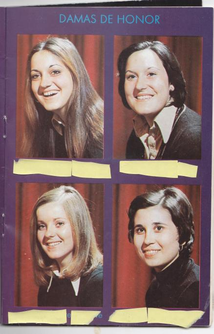 Damas de honor en la fiesta de la rosa 1974 casetas - Tiempo en casetas zaragoza ...