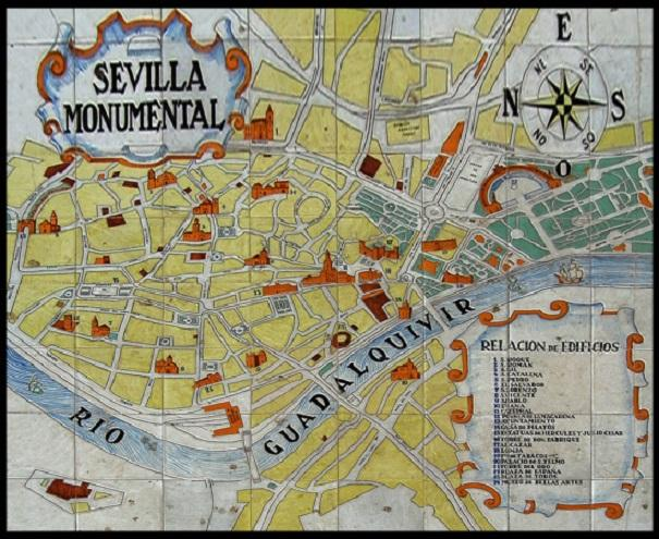 Monumentos De La Ciudad Mapa De Ceramica Sevilla