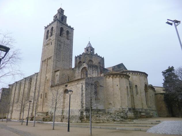 Vista del franco derecho y bsides del monasterio sant - Temperatura actual en sant cugat del valles ...