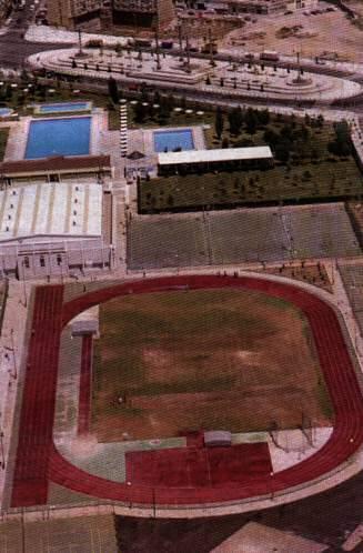 Vista a rea centro deportivo municipal la granja zaragoza for Dormir en zaragoza centro