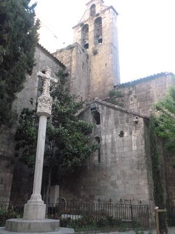 Crucero y Campanario en la Iglesia de Santa Ana, BARCELONA