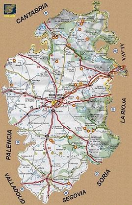 Mapa De Carreteras De La Provincia Burgos