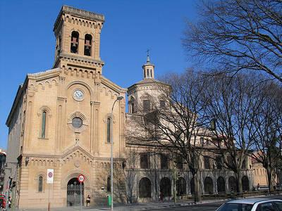 Fachada Principal De La Iglesia De San Lorenzo Pamplona Navarra