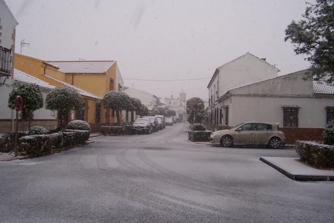 La calle los colonos nevada los villares de andujar ja n - Los villares jaen ...