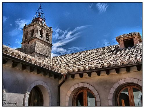 Vista iglesia desde casa de la cadena horcajo de santiago cuenca - Casa de la cadena ...