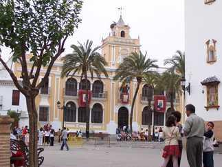 Ayuntamiento desde la plaza de espa a rociana del condado - Fotos antiguas de rociana del condado ...