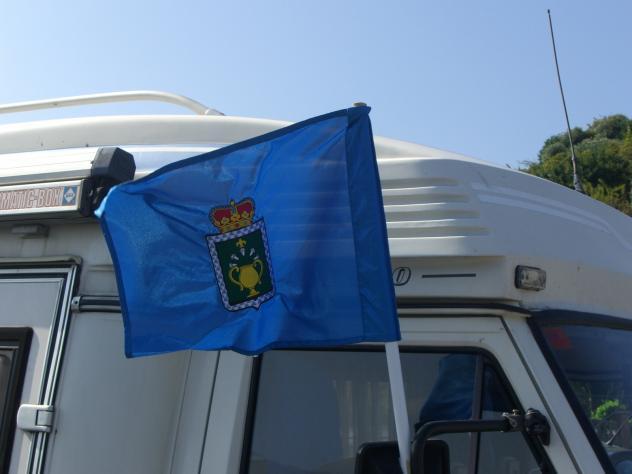 Bandera con el escudo de siero pola de siero asturias - El tiempo en siero asturias ...