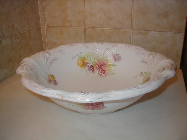 Palangana de loza accesorios de lavabo malva zamora for Accesorios para lavabo