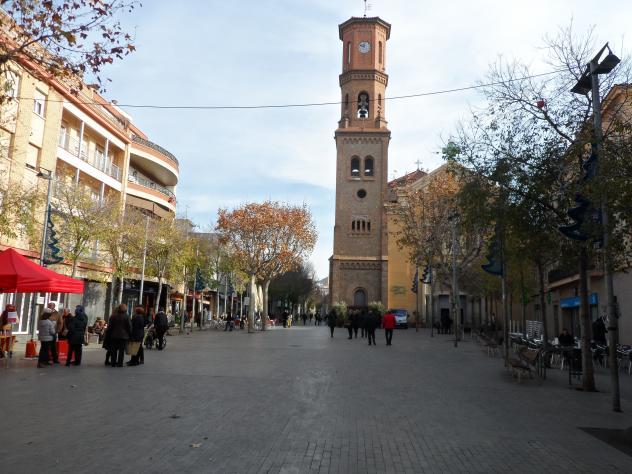 Catedral de sant lloren y la pla a de la villa sant feliu de llobregat barcelona - Temperatura sant feliu de llobregat ...