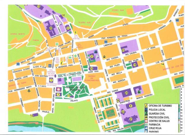 Pola De Laviana Mapa.Plano De La Villa 2008 Pola De Laviana Asturias