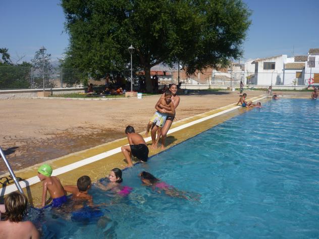 En la piscina larva ja n for Alberca 8 x 5