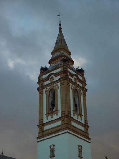 Torre de la iglesia san bartolom ap stol rociana del - Fotos antiguas de rociana del condado ...