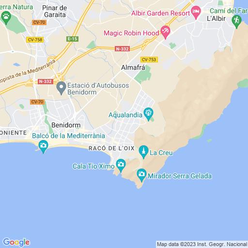 Rincon De Loix Mapa.Rincon De Loix Alicante